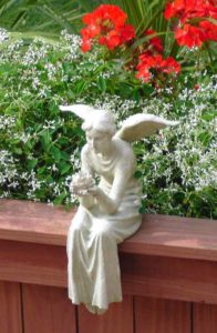 Retreat Theme: Fear not, I am with you always, angel in garden