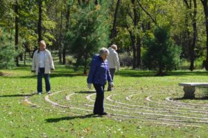 Spiritual Resources - Women walking the labyrinth